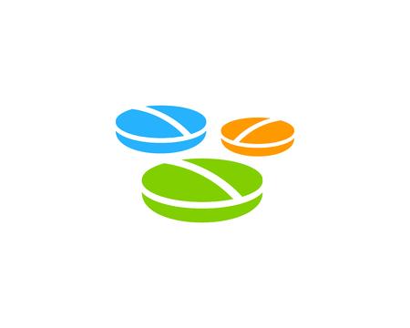 Geneeskunde Pictogram Logo Design Element Stock Illustratie
