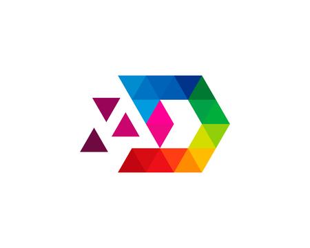 Lettre D Icon Logo Élément de conception Banque d'images - 80612184