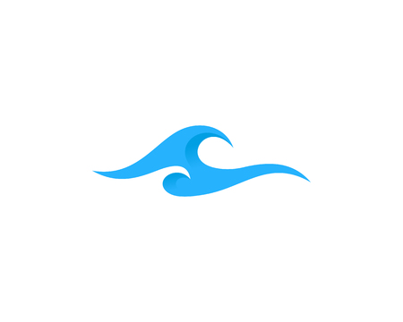 Wave Icon Design Element 일러스트