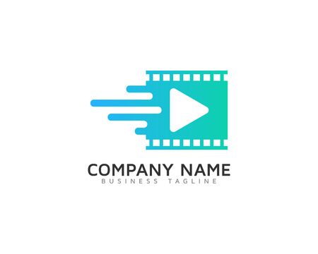 Video Icon Logo Design Element Standard-Bild - 80819068