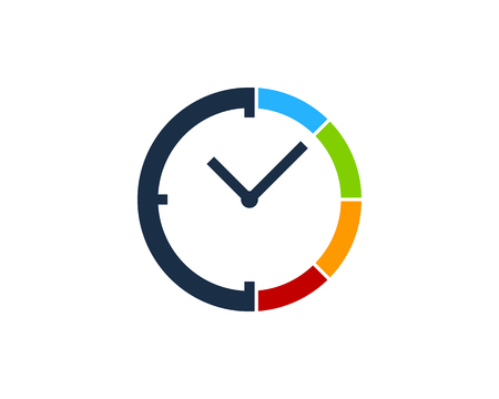 Time Icon Logo Design Element. 矢量图像