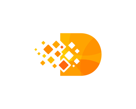 Letter D Icon Logo Design Element