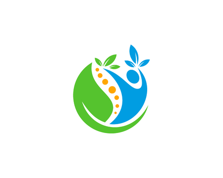 Wellness Icon Logo Design Element