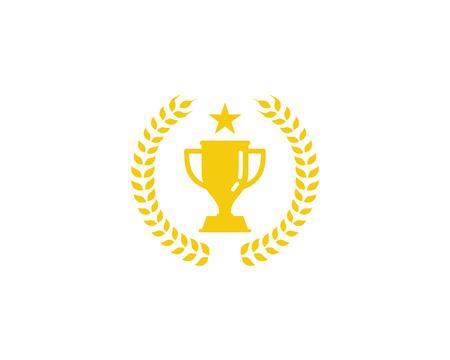 トロフィー アイコン ロゴのデザイン要素