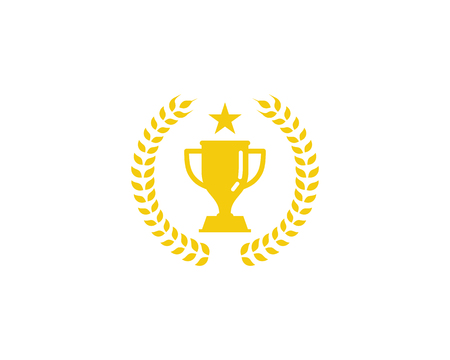 Trophy Icon Logo Design Element