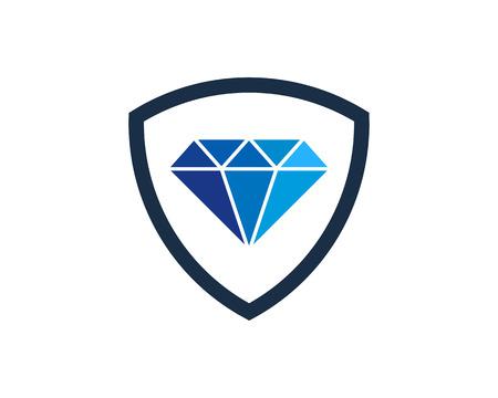 Diamond Icon Logo Design Element Illustration