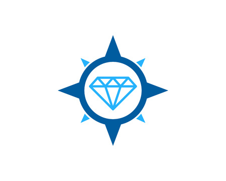 Diamond Icon Logo Design Element Ilustração