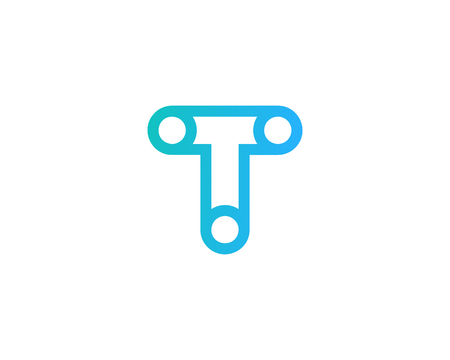 Lettre t icône élément de conception de logo Banque d'images - 80693274