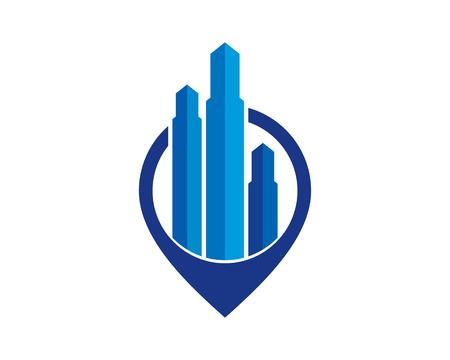 Real Estate Icon Logo Design Element