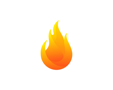 Fire Flame Icon Logo Design Element Çizim