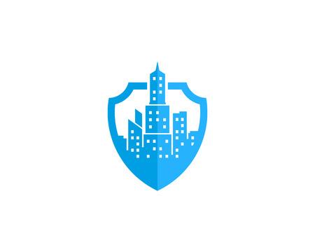 Town Icon Logo Design Element