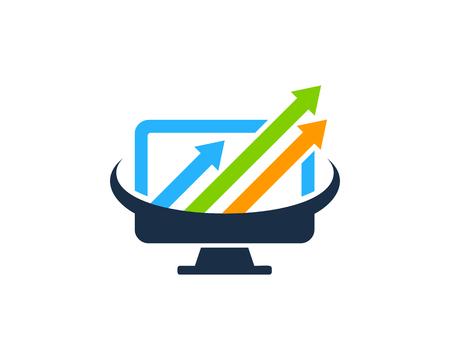 컴퓨터 아이콘 로고 디자인 요소