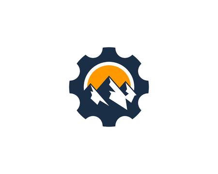 Gear Icon Logo Design Element Illustration