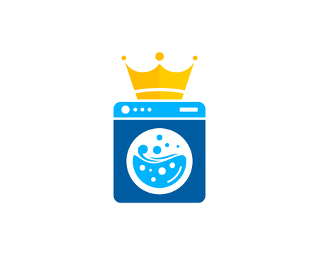 Laundry Icon Logo Design Element