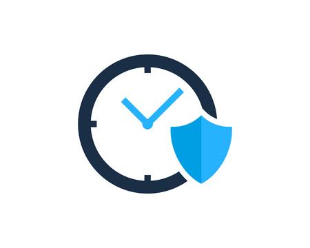 Time Icon Logo Design Element