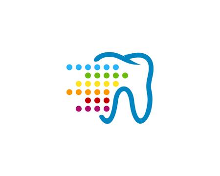 디지털 치과 아이콘 로고 디자인 요소