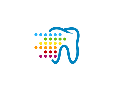 Digital Dental Icon Logo Design Element Ilustrace