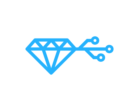 Diamond Icon Logo Design Element Фото со стока - 80612432
