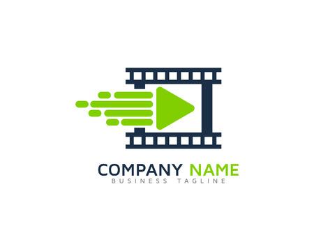 Icône de la caméra élément de design de logo Banque d'images - 80819123