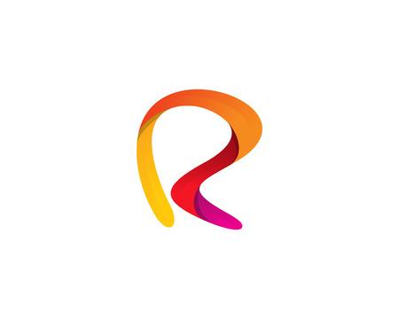문자 R 아이콘 로고 디자인 요소 일러스트