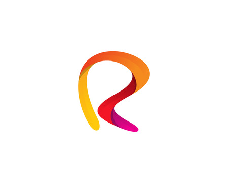 Letter R Icon Logo Design Element Çizim