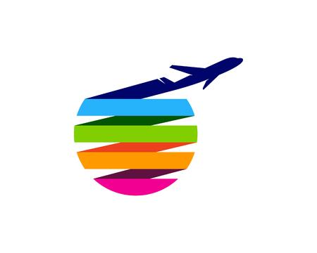 旅行アイコン ロゴのデザイン要素