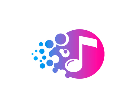 Music Icon Logo Design Element Illustration