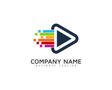Video Icon Logo Design Element. Vectores