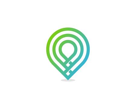 pin point icône élément de conception de logo