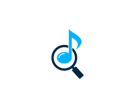 Music Icon Logo Design Element Çizim