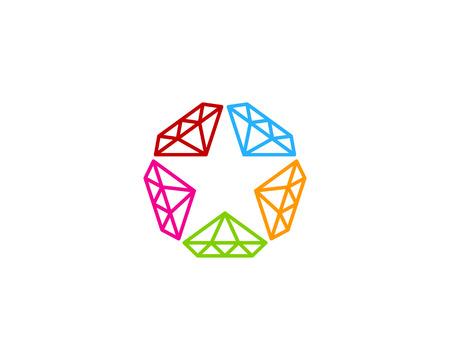 スター アイコンのロゴのデザイン要素。