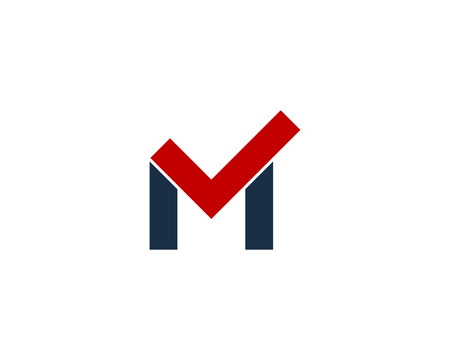 Letter M Icon Design Element