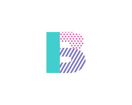 group b: Geometric Letter B Icon Logo Design Element Illustration