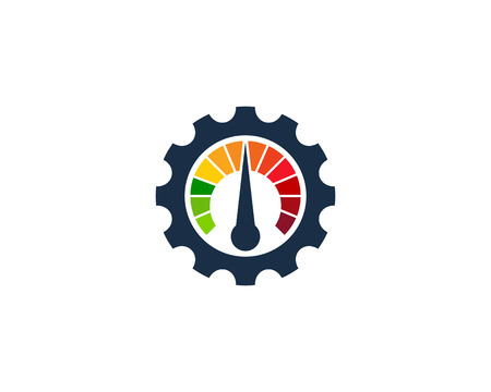 Gear with meter Icon Design Element