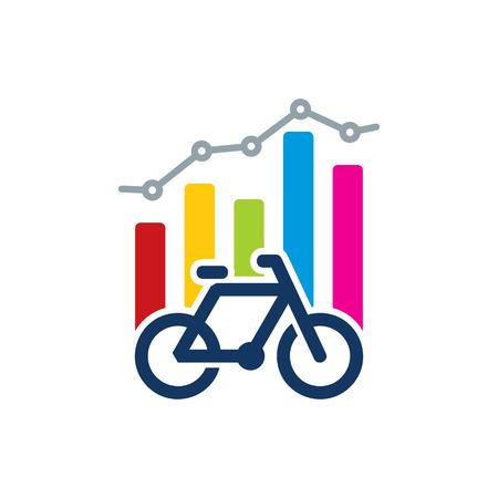 Bike Analytic Logo Icon Design Stock Illustratie