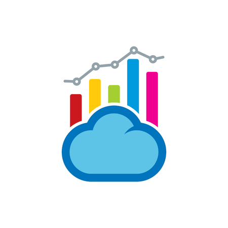 Cloud Analytic Logo Icon Design