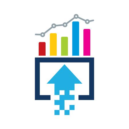 Upload Analytic Logo Icon Design