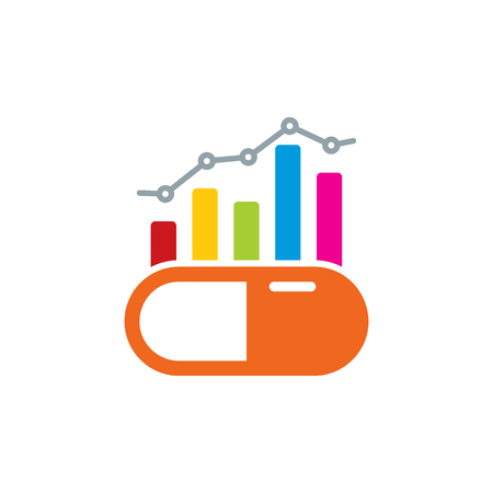 Medicine Analytic Logo Icon Design Ilustrace