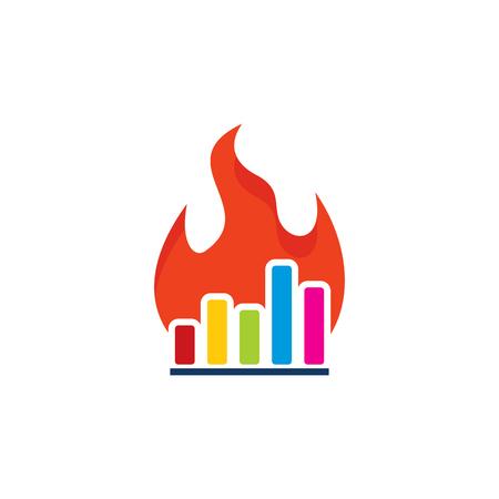 Burn analytische embleemontwerp pictogram Stockfoto - 100811805