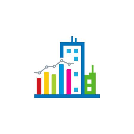City Analytic Logo Icon Design Stock Illustratie