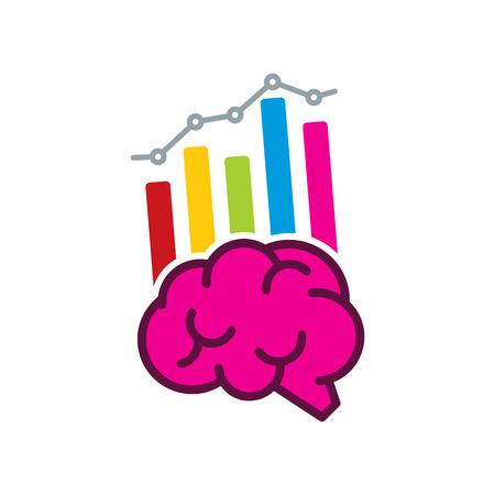 Brain Analytic Logo Icon Design Illustration