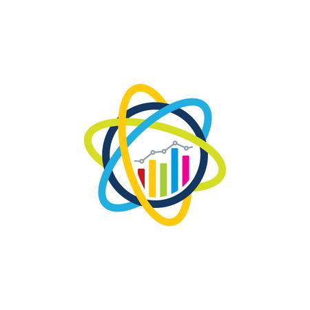 Science Analytic Logo Icon Design  イラスト・ベクター素材