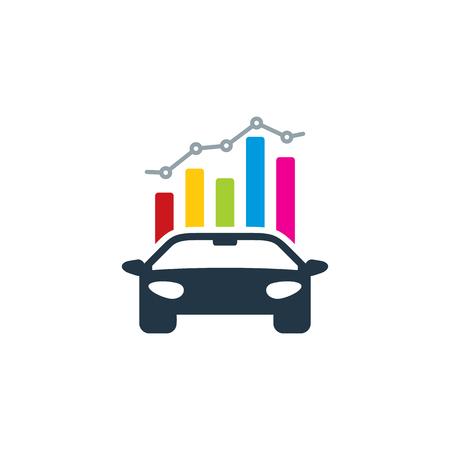 Automotive Analytic Logo Icon Design
