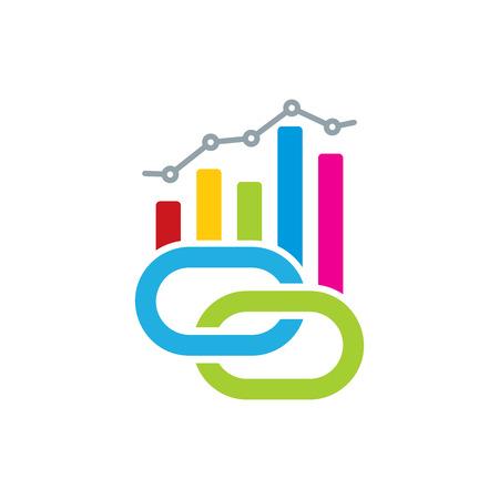 Connect Analytic Logo Icon Design