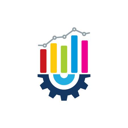 Gear Analytic Logo Icon Design