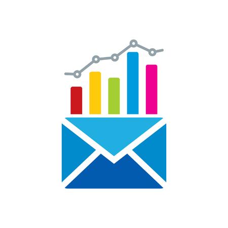 Mail Analytic Icon Design Illustration