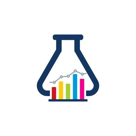 Lab Analytic Icon Design Illustration