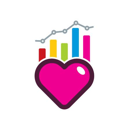 Love Analytic Logo Icon Design