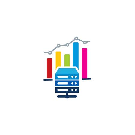 Server Analytic Logo Icon Design Фото со стока - 100810973