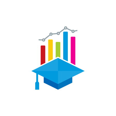 School Analytic Logo Icon Design Stock Illustratie